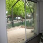 porta finestra scorrevole di infissi in alluminio